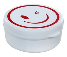 Fab N Funky - Smiley Print White Compressible Drinking Cup