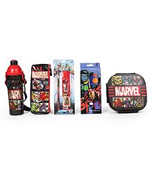 Marvel Avengers School Kit Pack Of 5 - Red