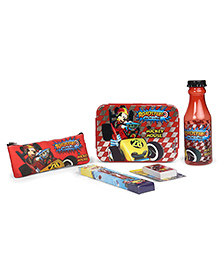 Disney School Kit Mickey Mouse Print Red Black - Pack Of 5