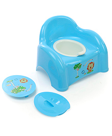 Potty Chair With Lid Animal Print - Yellow