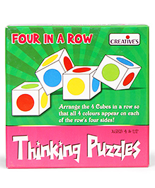 Creative Thinking Puzzles Four In A Row - Multi Color