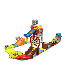 VTech Smart Wheels Press & Race Monster Truck Rally Track Set - Multicolour