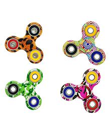 Emob Retro Graphic Printed Fidget Spinner Set Of 4 - Multicolour