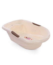 Baby Bath Tub With Bear Print - Cream