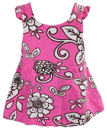 Little Pixies - Sleeveless Floral Printed Frock