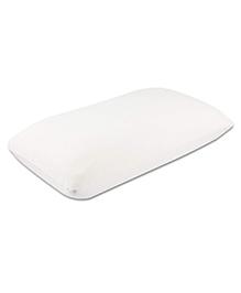The White Willow Rectangular Memory Foam Urban Pillow - White