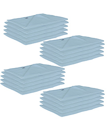 Lula Reusable Muslin Square Napkins Pack Of 20 - Blue