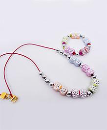 Little Tresses Bow Necklace & Bracelet Set - Multicolor