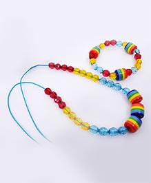Little Tresses Rainbow Necklace & Bracelet Set - Multicolor