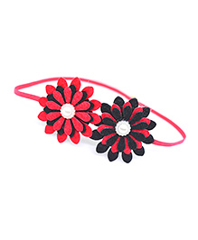 Little Tresses Twin Flower Thin Stretchable Headband - Red