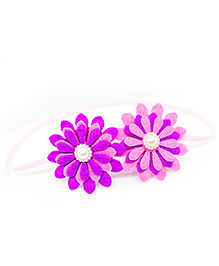 Little Tresses Twin Flower Thin Stretchable Headband - Violet