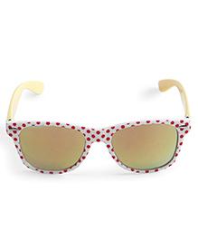 Babyhug UV 400 Protected Sunglasses Polka Dots Print - White Red