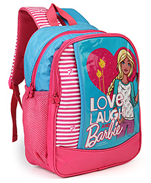 Barbie School Bag Blue Pink - 14 Inches