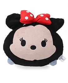 Disney Tsum Tsum Minnie Face Plush Cushion Black - 20 Cm