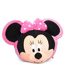 Disney Minnie Mouse Face Plush Toy Pink Black - 54 Cm