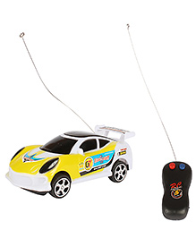 Planet Of Toys 2 Channel Remote Control Racing Car With 3D Lights - Yellow