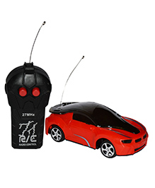 Planet Of Toys 2 Channel Remote Control Racing Car With 3D Lights - Red