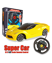 Planet Of Toys Steering Wheel Remote Control Mini Lamborghini Car - Yellow