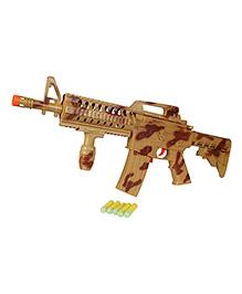 Planet Of Toys Semi Auto Running Fire Soft Bullet Gun - Brown