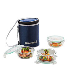 Signoraware Executive Glass Lunch Box Set With Bag