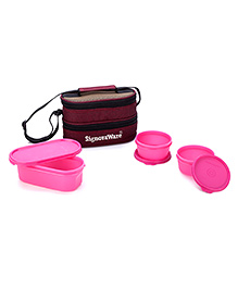 Signoraware Lunch Boxes With Insulated Bag (Assorted Colours)