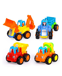 Smartcraft Construction Vehicles Toy Set Of 4 - Multicolour