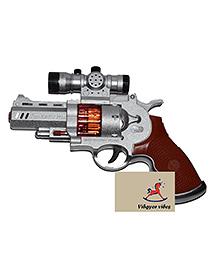 VibgyorVibes Flash Gun With LED Lights & Sound - Silver