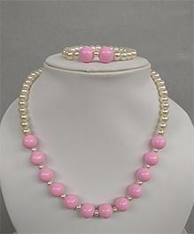 Tiny Closet Pearl Necklace & Bracelet - Pink