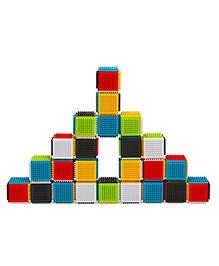 Infantino Sensory Press And Stay Sensory Blocks - Multi Color