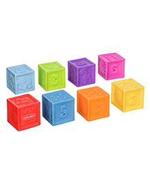 Infantino Squeeze And Stack Block Set Multicolour - Pack Of 8