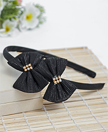Babyhug Hair Band Bow Applique - Black
