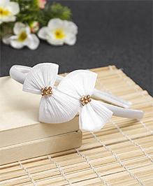 Babyhug Hair Band Bow Applique - White