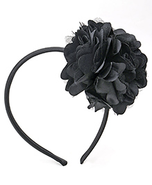 Babyhug Hair Band With Floral Applique - Black