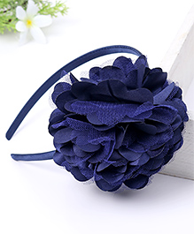Babyhug Hair Band With Floral Applique - Blue