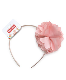 Babyhug Hair Band With Floral Applique - Pink
