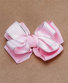 Babyhug Alligator Bow Applique Hair Clip - Light Pink