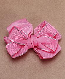 Babyhug Alligator Bow Applique Hair Clip - Dark Pink
