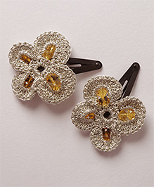 Samoolam Crafts Shimmer Butterfly Clip - Silver