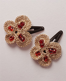 Samoolam Crafts Shimmer Butterfly Clip - Gold