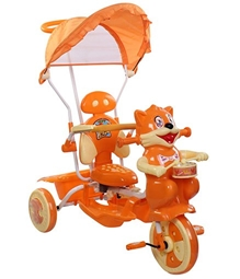 Playnation -Tricycle with Push Handle Orange JRD 2306 Orange