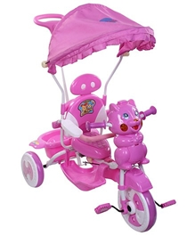 Playnation -Tricycle with Push Handle JRD506 Pink