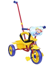 Playnation -Tricycle with Push Handle Yellow