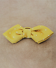 Many Frocks & Polka Dot Big Bow Rubber Band - Yellow