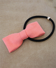Many Frocks & Bow Rubber Band - Peach