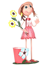 Wonderland Garden Welcome Girl Room Decor Planter - Multicolour