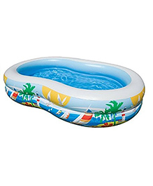 Intex Swim Center Inflatable Paradise Seaside Kids Swimming Pool - Blue