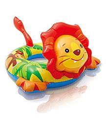 Intex Lion Shape Inflatable Swim Ring - Multi Color