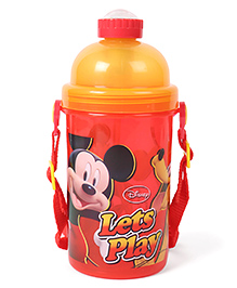 Disney Sipper Bottle Mickey Mouse Print Red Yellow - 450 Ml