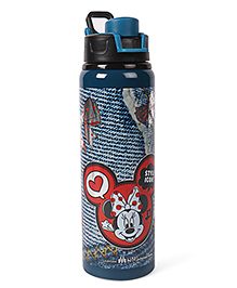 Disney Sipper Bottle Minnie Mouse Print Blue - 750 Ml