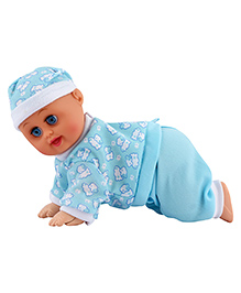 Curtis Toys Crawling Baby Doll With Sound - 25 Cm (Color & Design May Vary)